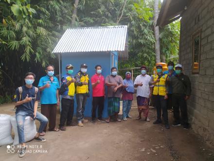 Pemeriksaan uji kelayakan SANDES (Sanitasi Desa)