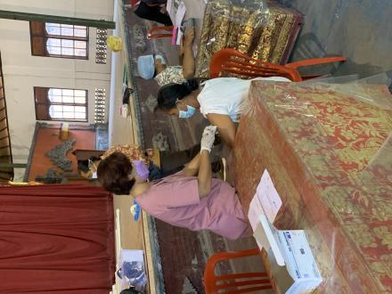 Kegiatan Vaksinasi Lansia dan Posyandu Lansia Desa Sanggalangit